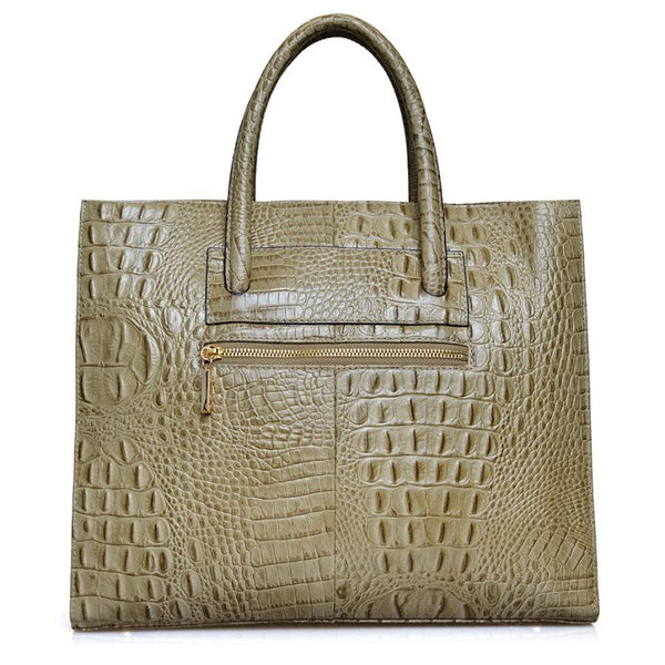 Gelasia in Croc Patterned Leather