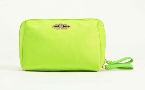 Zina Cosmetics Bag - Neo Green