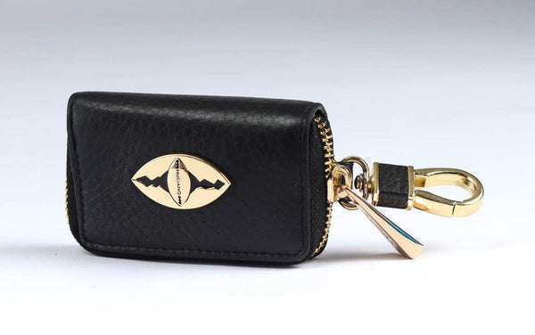Key Holder in Pebble Leather - Black