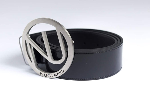 Men's Reversible Leather Belt - Black/Grey