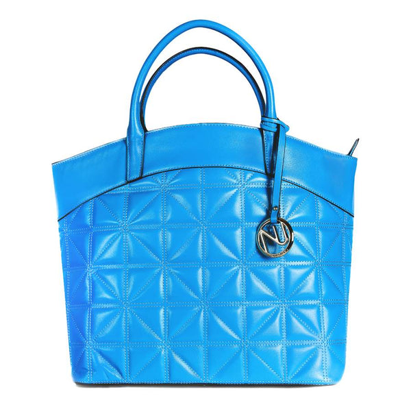 Leah Tufted Tote in Smooth Leather - Nuciano Handbags