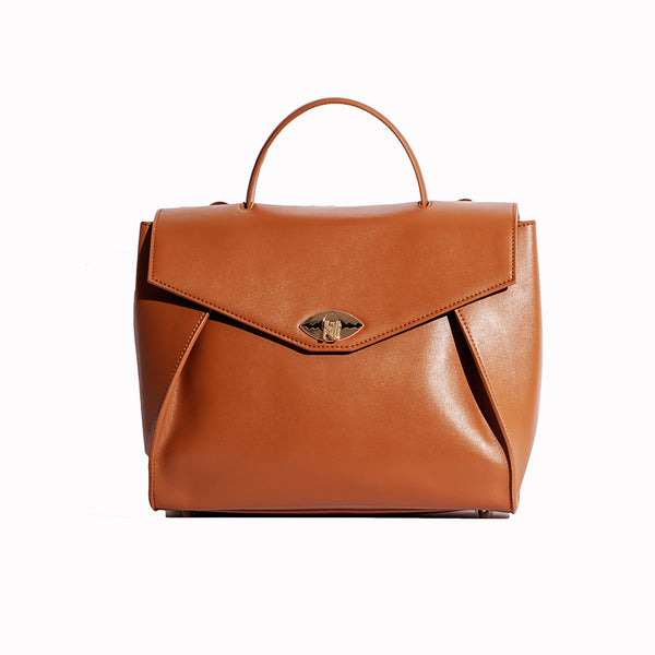 Lourence Handbag in Nappa Leather - Nuciano Handbags