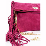 Sharae Handbag in Suede Leather - Nuciano Handbags