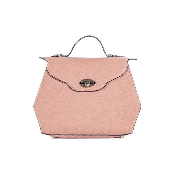Aurene Handbag in Blush Pebble Grain Leather