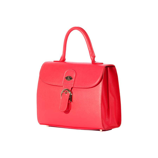 Nylah Handbag in Red Saffiano Leather
