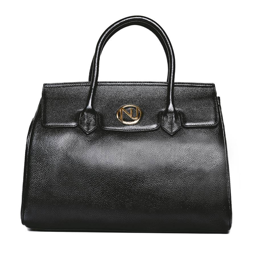 a889a29983d1 Ophelia Handbag in Black Pebble Leather – Nuciano Handbags
