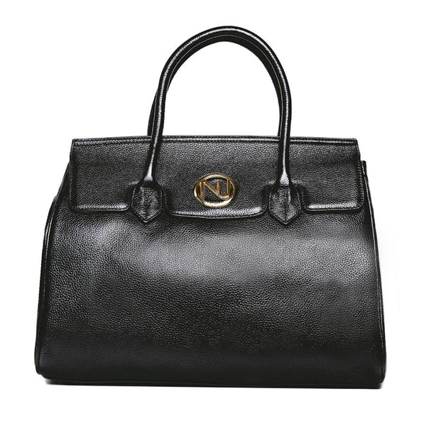 Ophelia Handbag in Pebble Leather - Nuciano Handbags