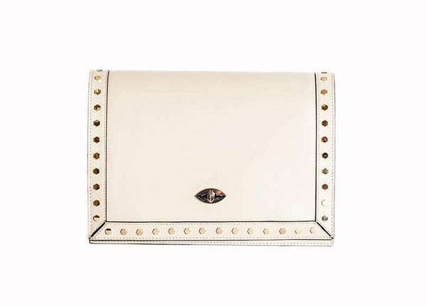 Rafaela Handbag in Cream Nappa Leather