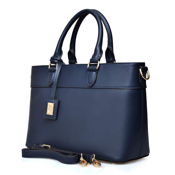 Ula in Blue Smooth Leather