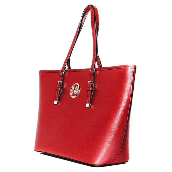 ANGELIQUE TOTE IN MARSALA RIPPLE GRAIN LEATHER