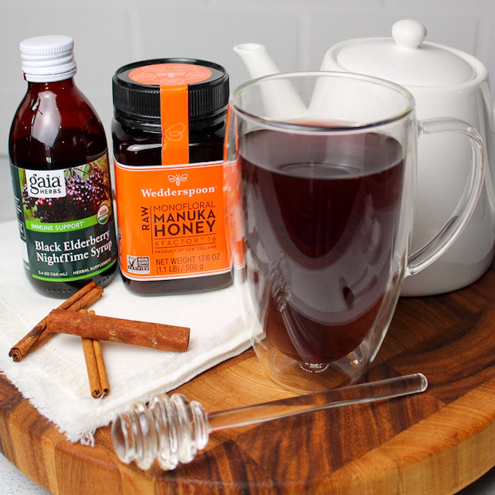 Immunity Tea with Manuka Honey + Elderberry