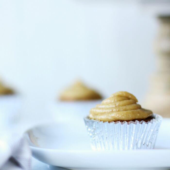 Carrot Cake Cupcakes with Cashew Cream Cheese Frosting