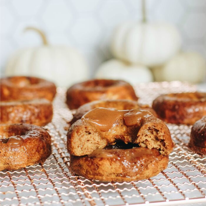 Pumpkin Spice Donuts with Manuka honey Brown Butter Glaze
