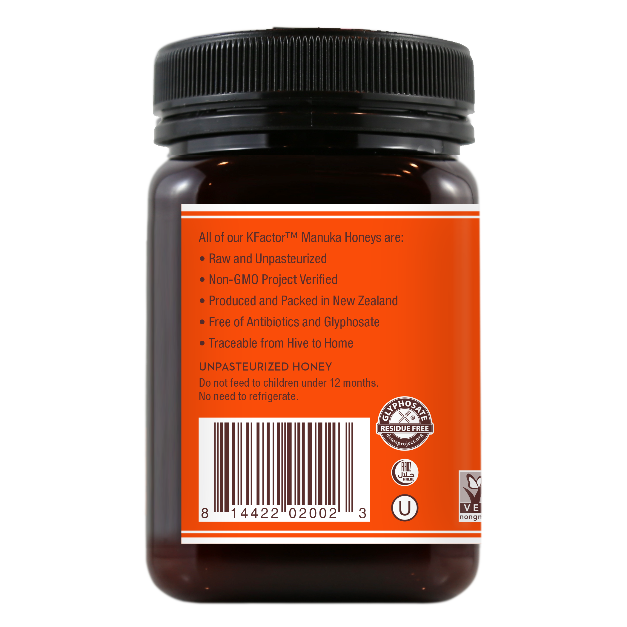 Raw Monofloral Manuka Honey KFactor 16, 500g/17.6oz