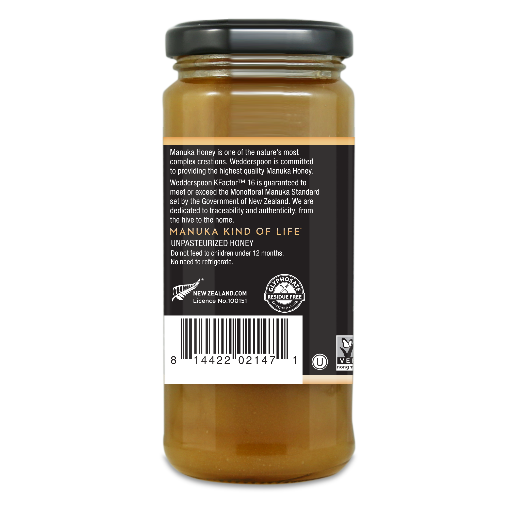 Wedderspoon Manuka Honey K16 325g 1