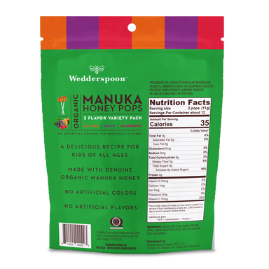 Organic Manuka Honey Pops Variety Pack 1