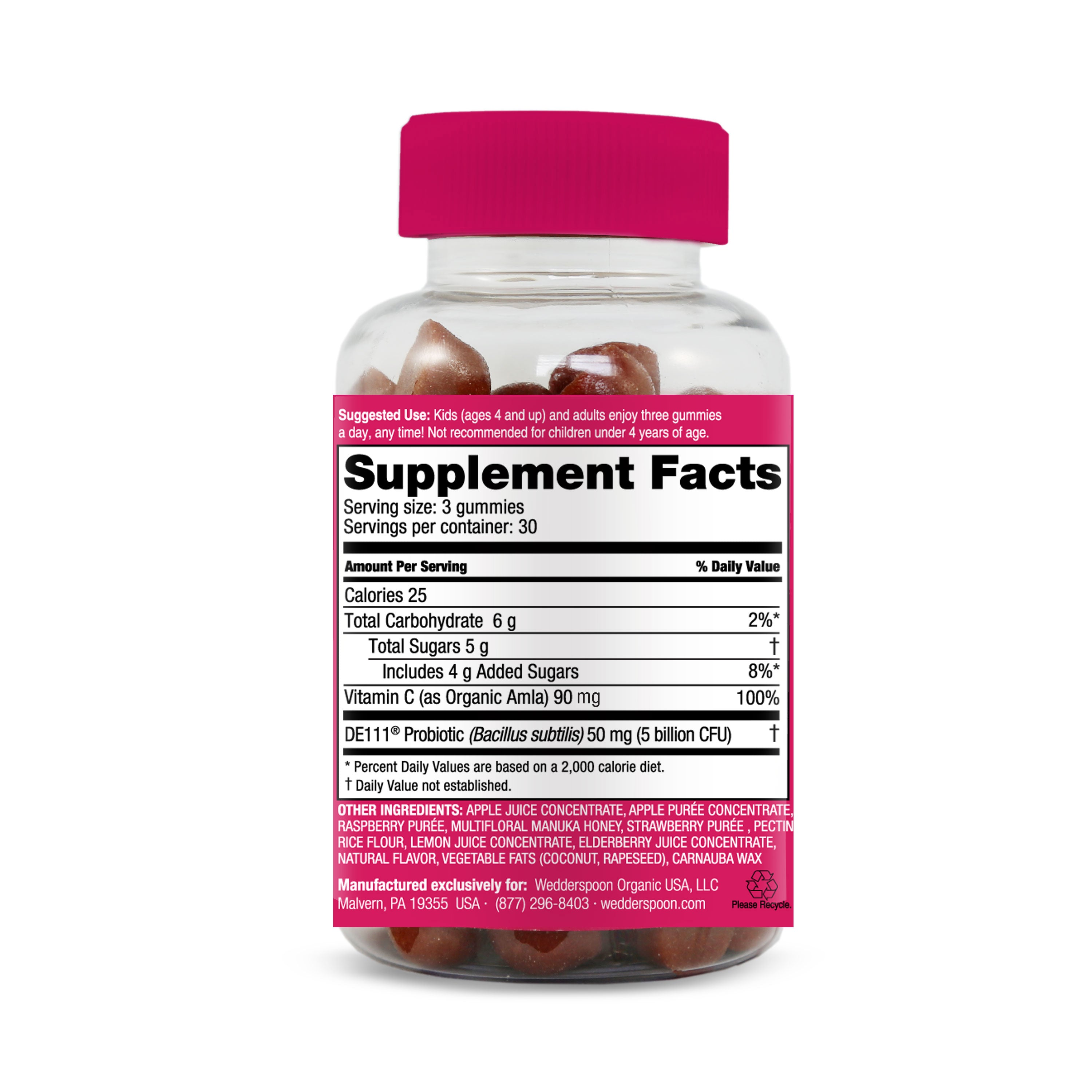 Manuka Honey Gummies Berry - Immunity Support - Nutrition Info