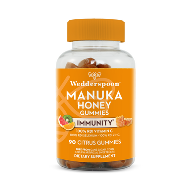 Wedderspoon Manuka Honey Immunity Gummies Citrus