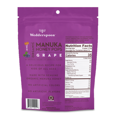 Organic Manuka Honey Pops Grape 1