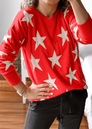 Suéter Estrellas Rojo-Blanco  Ref ST0020 |  Red and White Stars Sweater Ref ST0020