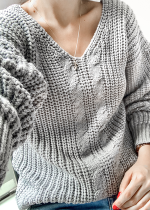 Suéter  Gris Frío Ref ST004 | Light grey Sweater Ref ST004