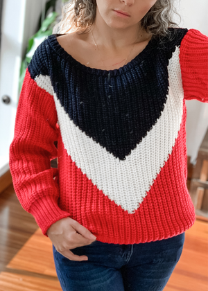 Suéter Rojo tricolor Ref ST0013 |  Tricolor red Sweater Ref ST0013