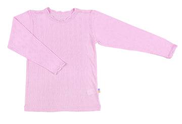 JOHA - Wool/Silk Blouse - Pale Pink