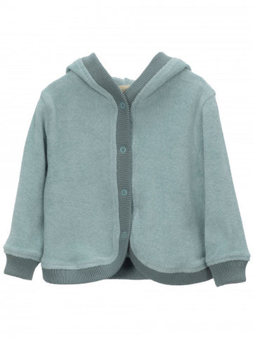 SERENDIPITY ORGANICS - Baby Hooded Jumper - Lake Blue