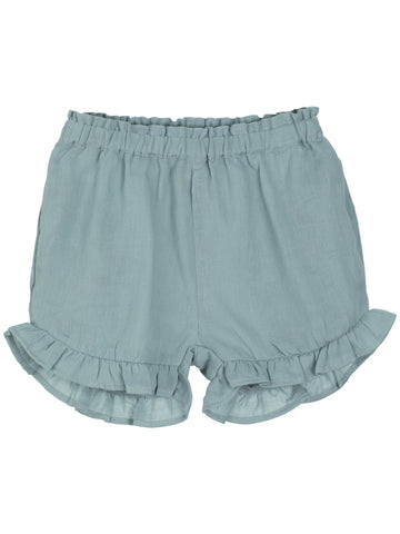 SERENDIPITY ORGANICS - Gauze Childrens Shorts - Dusty Blue