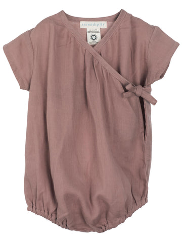 SERENDIPITY ORGANICS - Gauze Baby Suit - Heather