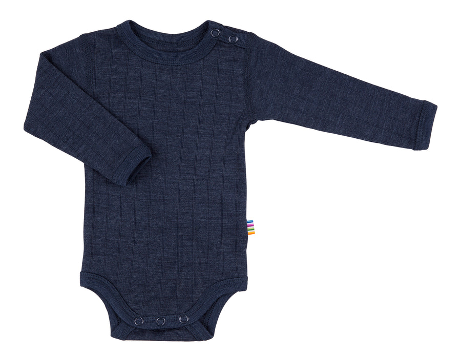 JOHA - Wool/Silk Rib Bodysuit - Navy