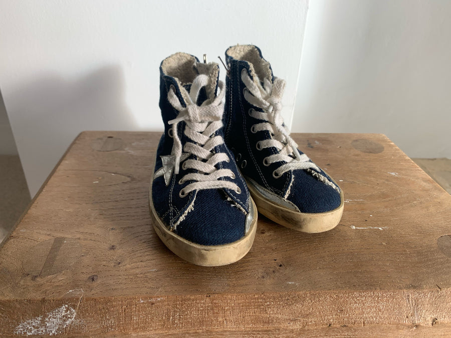 PRELOVED GOLDEN GOOSE High Top Trainers - EU22 - Blue