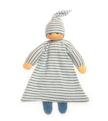 NANCHEN NATUR - Comforter Doll - Blue Stripes