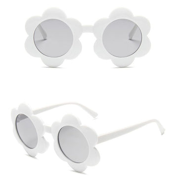 BASIC KIDS CO - Flower Sunglasses - White