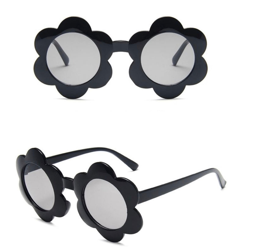 BASIC KIDS CO - Flower Sunglasses - Black