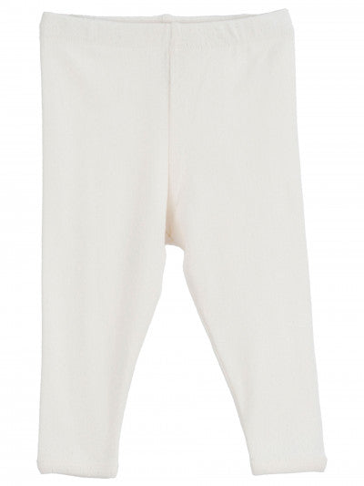 SERENDIPITY ORGANICS - Baby Leggings - Off White Pointelle