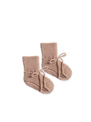 QUINCY MAE - Knit Baby Booties - Petal