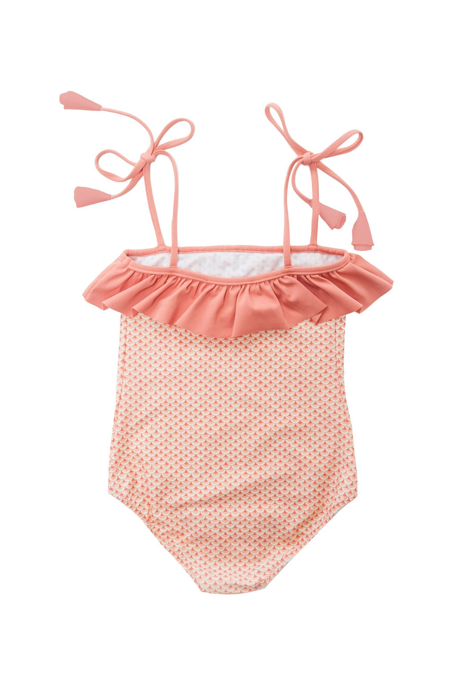 FOLPETTO -  Lily One-Piece - Coral Pink Scales Print