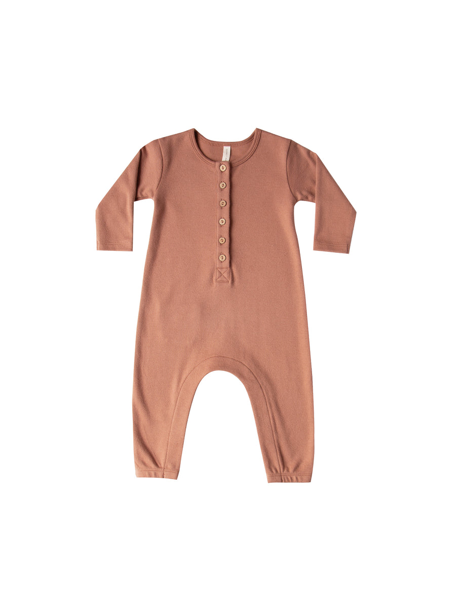 QUINCY MAE - Long Sleeve Jumpsuit - Clay