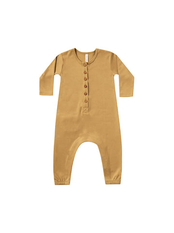 QUINCY MAE - Long Sleeve Jumpsuit - Honey