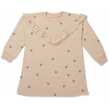 KONGES SLØJD - Lou Sweatshirt Dress - Cherry/Blush