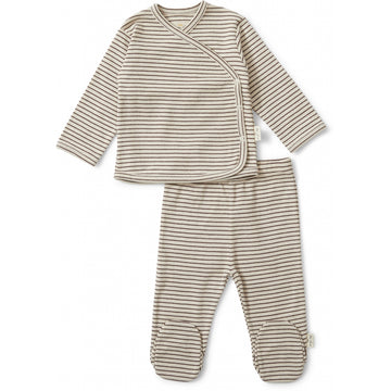 KONGES SLØJD - Dio Two Piece Set - Mocca / Beige