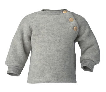 ENGEL NATUR - Raglan Sweater - Light Grey Melange