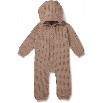 KONGES SLØJD - Tomama Onesie - Paloma Brown/Honey Comb