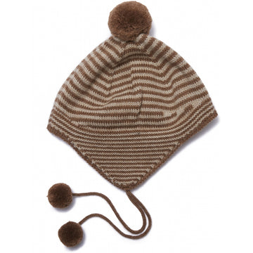 KONGES SLØJD - Tomami Knit Hat - Almond Stripe