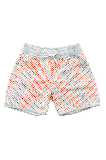 FOLPETTO - Tommaso Swim Shorts - Mandarin and Cloudgrey Scales