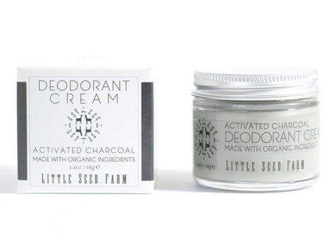 ORGANIC ACTIVATED CHARCOAL DEODORANT CREAM - Little Seed Farm