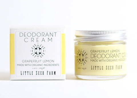ORGANIC GRAPEFRUIT LEMON DEODORANT CREAM - Little Seed Farm