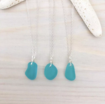 TURQUIOSE MINI SEA GLASS NECKLACE