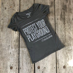 BAMBOO SCOOP-NECK TEE 'PROTECT YOUR PLAYGROUND' - Women's